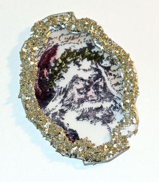 Vintage-santa-glitter-frame
