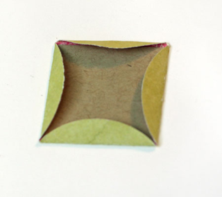 Folded-circle-over-square