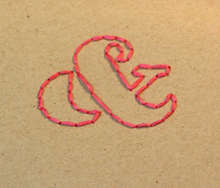 Stitched-ampersand