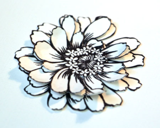 Flower-petals-adhered