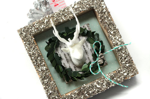 Holiday Antlers Shadow Box Home Decor Project