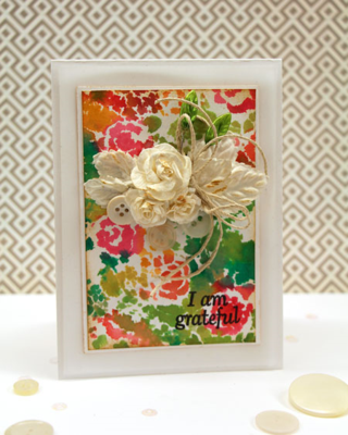 Stenciled Watercolors Card Design