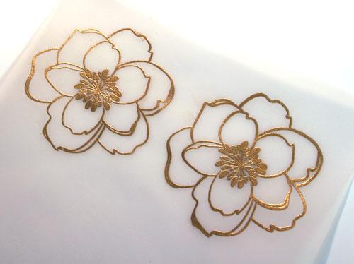 Embossed-flowers