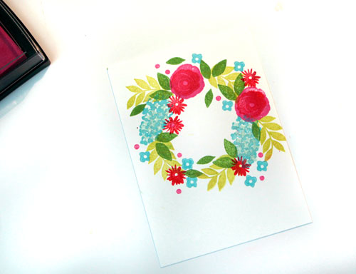 Stamped-wreath