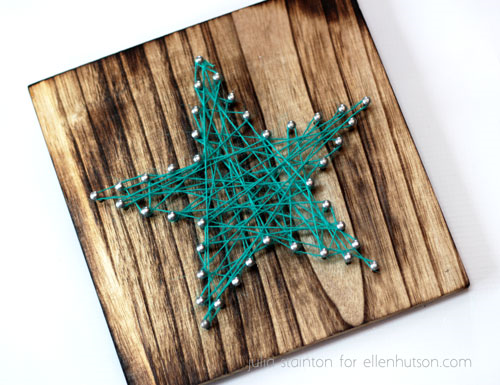 Finished-star-string-board