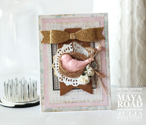 Twine Nest Bird Spring Card featuring Maya Road