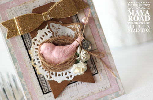 Sweet Twine Nest Bird Card using Maya Road products