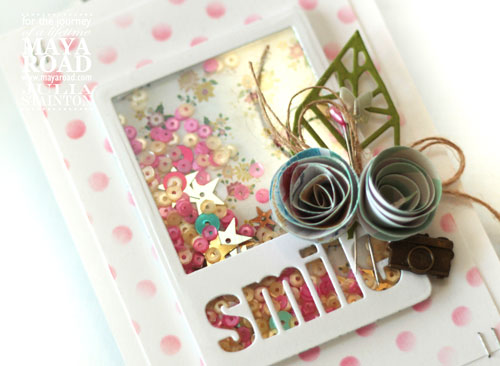 Smile ATC die cut shaker card