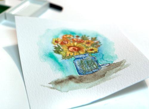 Watercolor-warping