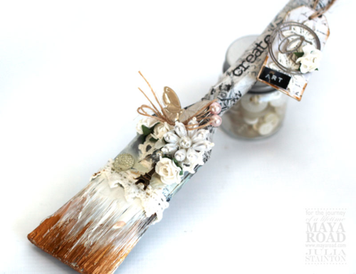 Shabby Chic Altered Paint Brush