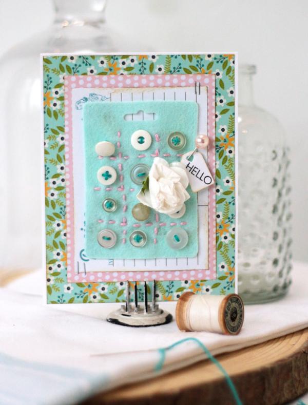 Stitched-felt-button-card-hello-card